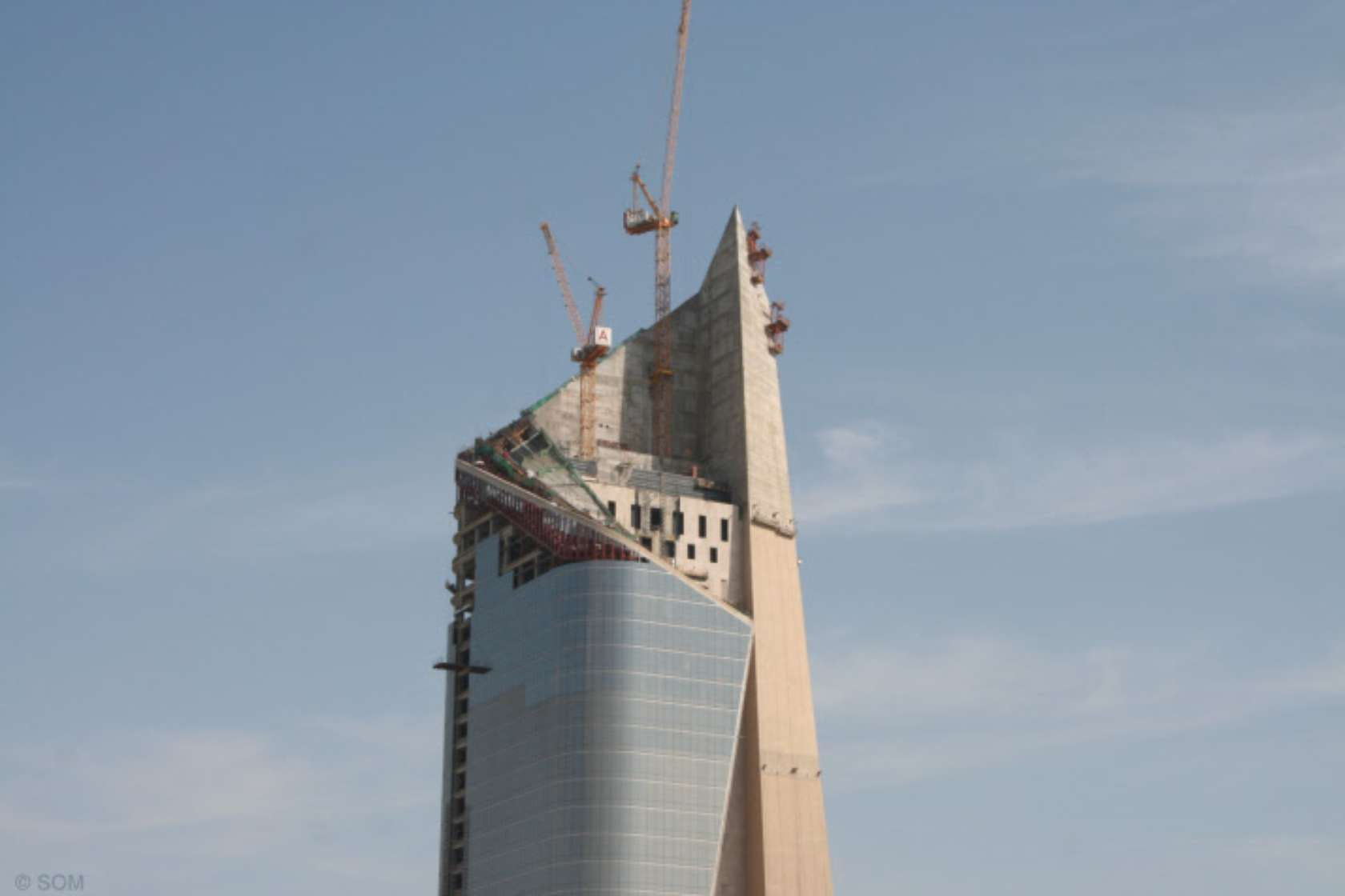 SOM's New Concrete Skyscraper Rises in Kuwait