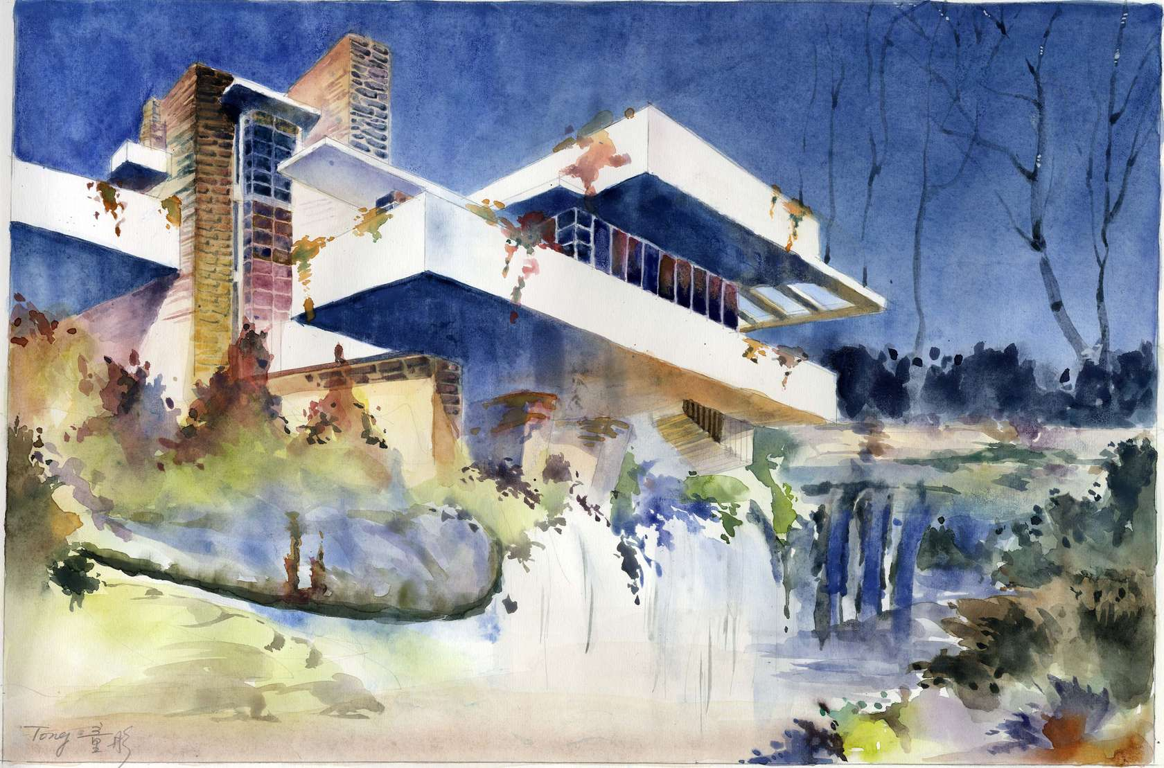 Artists Rendering Architectural : Watercolor rendering architizer