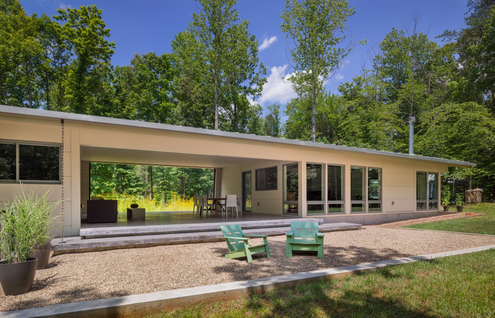 Dog trot at stony point architizer for Dogtrot modular homes